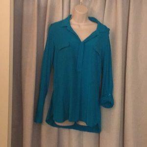 Turquoise blouse/ shirt